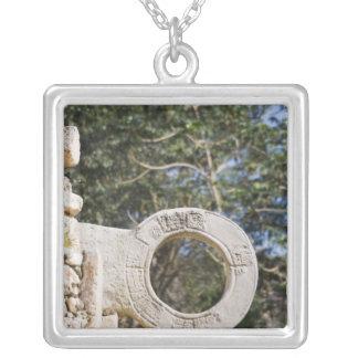 Mexico, Yucatan, Uxmal. Uxmal, a large Square Pendant Necklace