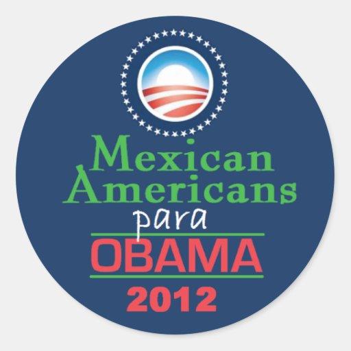 MEXICOAMERICANOS de Obama Pegatina Redonda