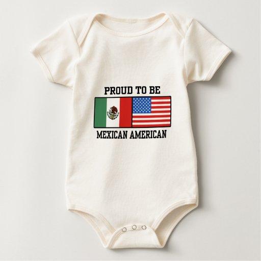 Mexicoamericanos orgulloso trajes de bebé