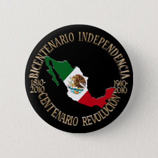 Mexico's Bicentennial & Centennial Celebration Pinback Button