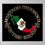 Mexico's Bicentennial & Centennial Celebration Poster