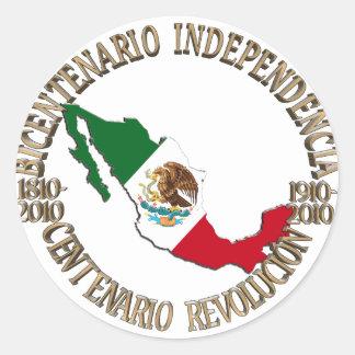 Mexico's Bicentennial & Centennial Celebration Classic Round Sticker