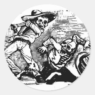 """Mexico's """"Day of the Dead."""" circa 1894 Classic Round Sticker"""