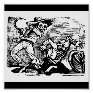 "Mexico's ""Day of the Dead."" circa 1894. Poster"