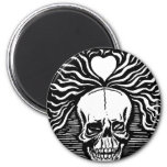 """Mexico's """"Day of the Dead"""" circa 1924 2 Inch Round Magnet"""