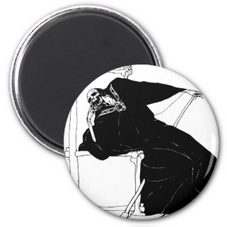 """Mexico's """"Day of the Dead"""" circa 1929 2 Inch Round Magnet"""
