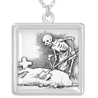 """Mexico's """"Day of the Dead"""" circa 1949 Silver Plated Necklace"""