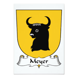 Meyer Family Crest Card
