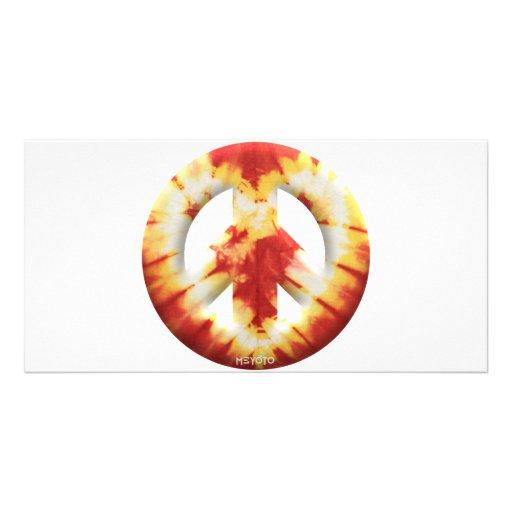 Meyoto Red Tie Dye Personalized Photo Card