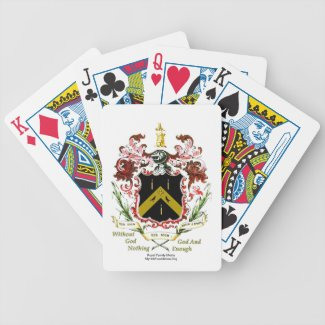 Meyrick, Myrick, Merrick Family Motto Playing Card