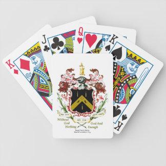 Meyrick, Myrick, Merrick Family Motto Playing Card