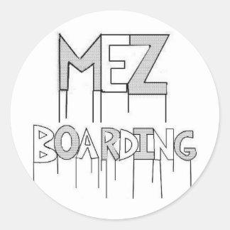 Mez Boarding 3-Inch Set of Six Stickers