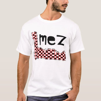 Mez Fading Checkers Shirt White