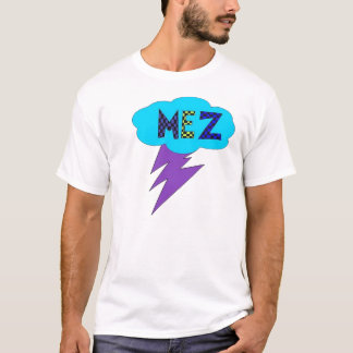 Mez Lightning Shirt- Purple, Blue, Green T-Shirt