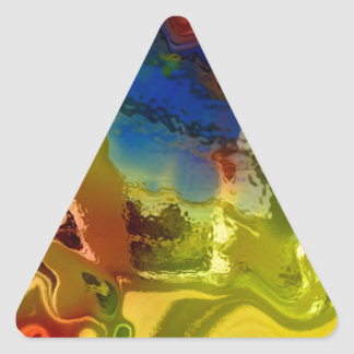 Mezcla 1 del arco iris pegatina triangular
