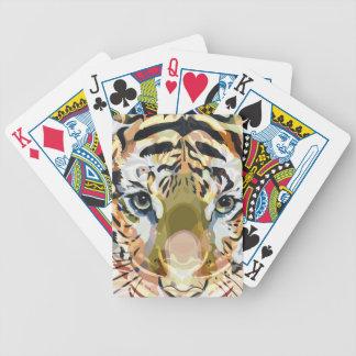 Mezcla #1 del tigre baraja de cartas bicycle