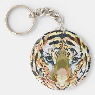 Mezcla #1 del tigre llavero redondo tipo pin