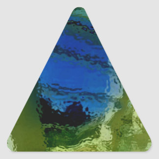 Mezcla 3 del arco iris pegatina triangular
