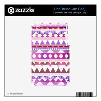 Mezcla #538 - Tribal rosado iPod Touch 4G Calcomanías