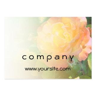 Mezcla anaranjada clara del rosa amarillo tarjetas de visita grandes