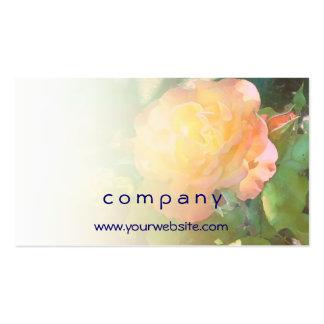 Mezcla anaranjada clara del rosa amarillo tarjetas de visita
