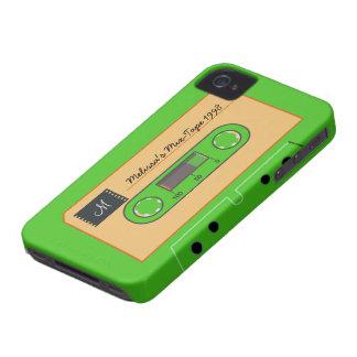 Mezcla-Cinta de encargo de Geen iPhone 4 Carcasa