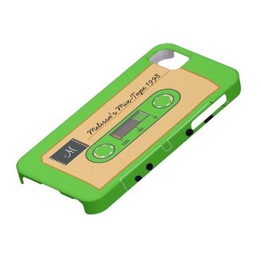 Mezcla-Cinta de encargo de Geen iPhone 5 Carcasas