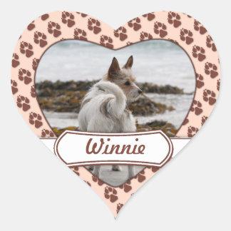 Mezcla de Jack Russel Terrier - Winnie - Omán Pegatina En Forma De Corazón