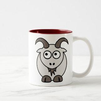 Mezcla de la cabra taza dos tonos