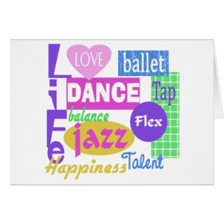 Mezcla de la danza tarjeta de felicitación