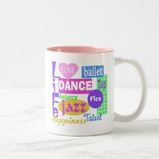Mezcla de la danza taza de café de dos colores