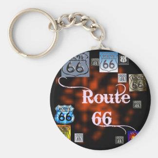 Mezcla de la ruta 66 llaveros personalizados