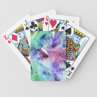 Mezcla de las plumas baraja de cartas
