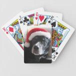Mezcla de Santa Perro-Labrador Rottweiler Baraja Cartas De Poker