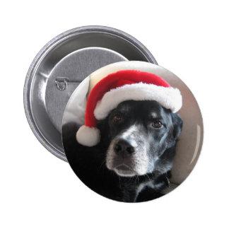 Mezcla de Santa Perro-Labrador Rottweiler Pin Redondo De 2 Pulgadas