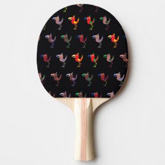 Mezcla de Tucan de color morado oscuro Pala De Ping Pong