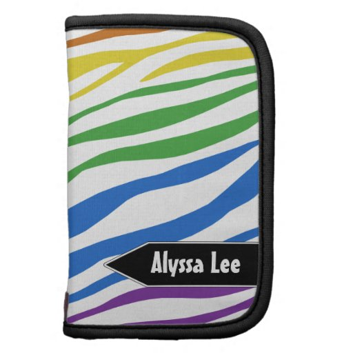 Mezcla del arco iris del estampado de zebra - plan organizador