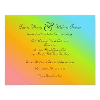 """Mezcla del arco iris - le invitan invitación 4.25"""" x 5.5"""""""