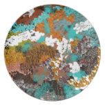 Mezcla del bloque del modelo del color platos de comidas