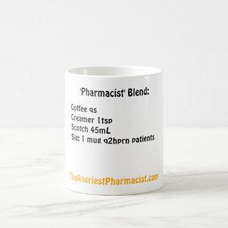 Mezcla del farmacéutico tazas de café