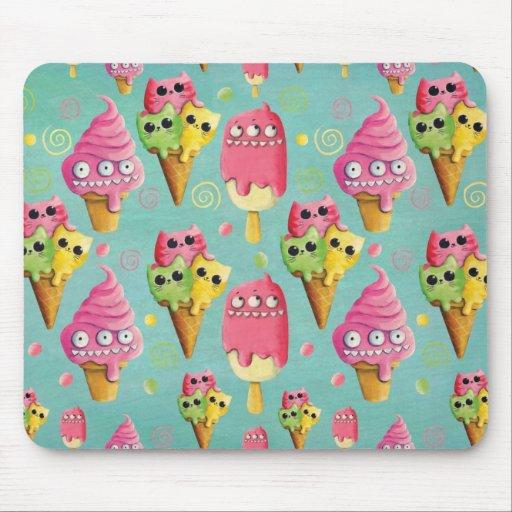 Mezcla del helado del verano alfombrilla de ratón