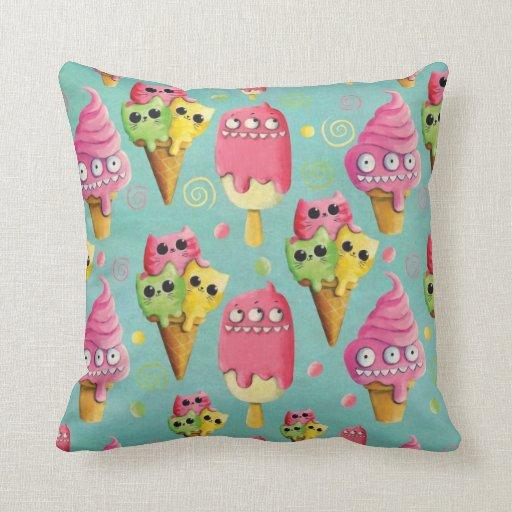 Mezcla del helado del verano almohadas