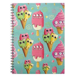 Mezcla del helado del verano spiral notebooks