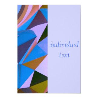 """Mezcla del modelo de la fantasía, azul (i) invitación 5"""" x 7"""""""