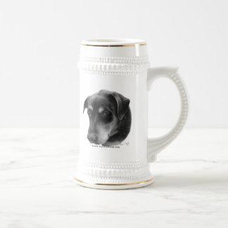 Mezcla del Rottweiler-Laboratorio Taza De Café