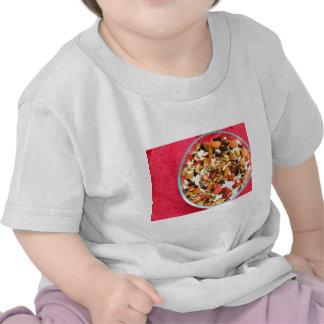 Mezcla estupenda de la fruta y de la nuez camisetas
