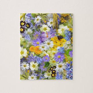Mezcla floral de la primavera bonita puzzle