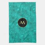 Mezcla floral de la turquesa toalla
