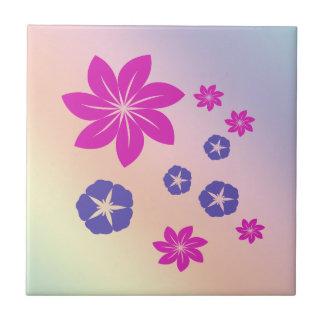 Mezcla floral simple con armonía del color azulejos ceramicos