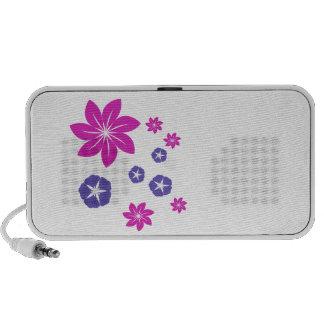 Mezcla floral simple iPhone altavoz